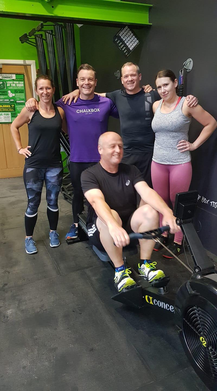 Debbie's training partners