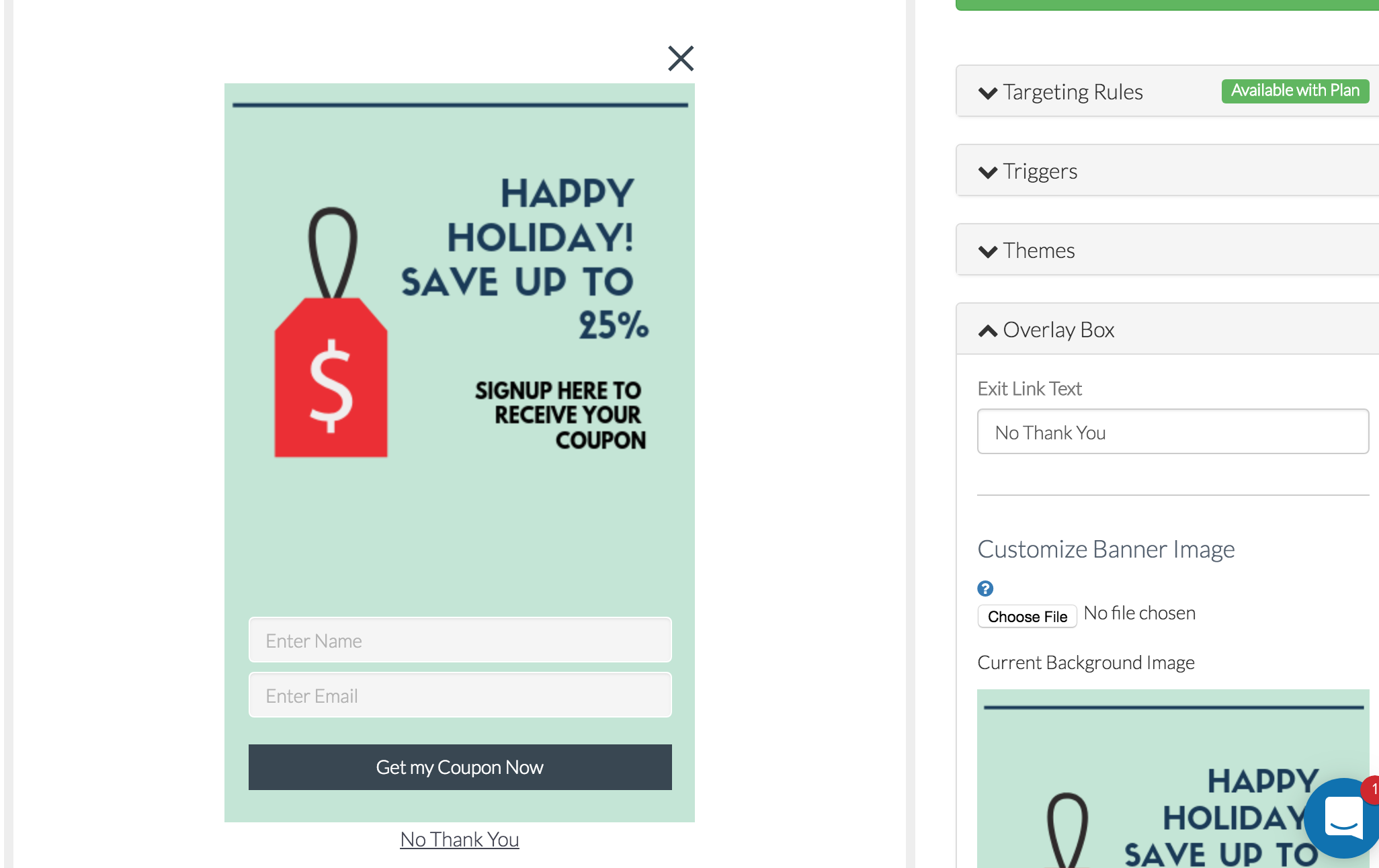 Gather Email Popup Image Designed in Canva