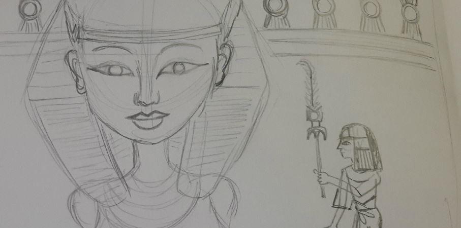 Concept Sketch for Hatshepsut