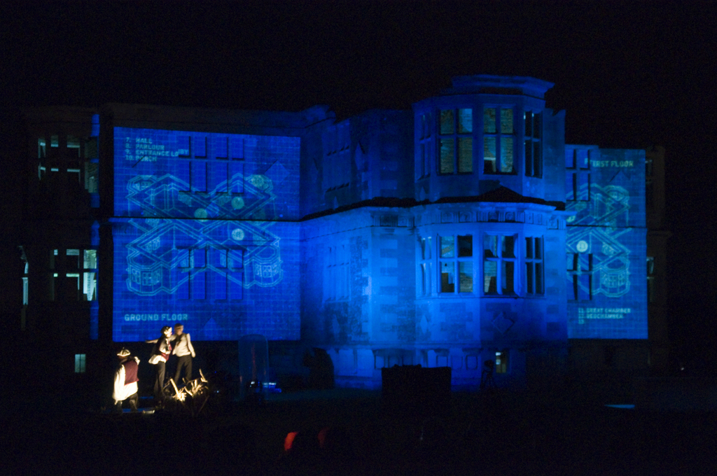 Large Scale Projection at Lyveden New Bield