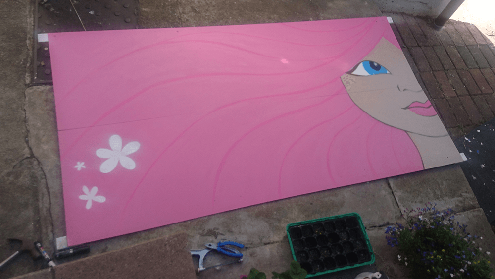 Our second collab piece in our garden