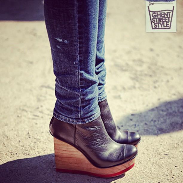 Mijn schoenen (en vuile Levi's) gezien op @ghentstreetstyle vandaag?