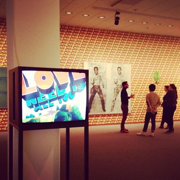 Andy & The Beatles zijn er ook #sixties #warhol #allyouneedislove (at Neue Nationalgalerie)
