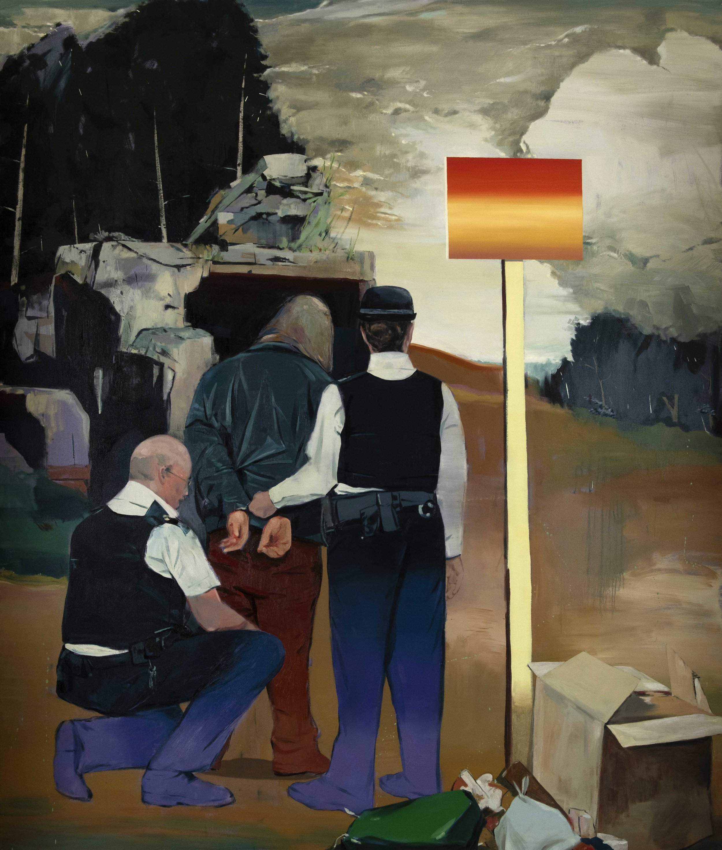 B. File Detainees 03   oil on canvas // 200x170 cm // 2014