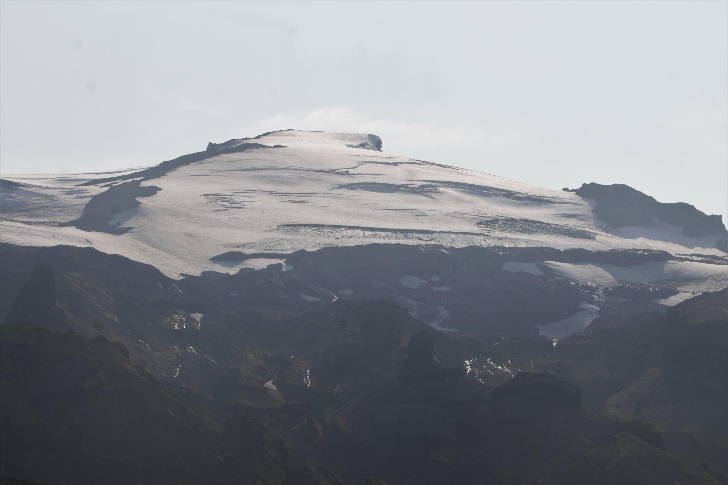 The top of Eyjafjallajokull.
