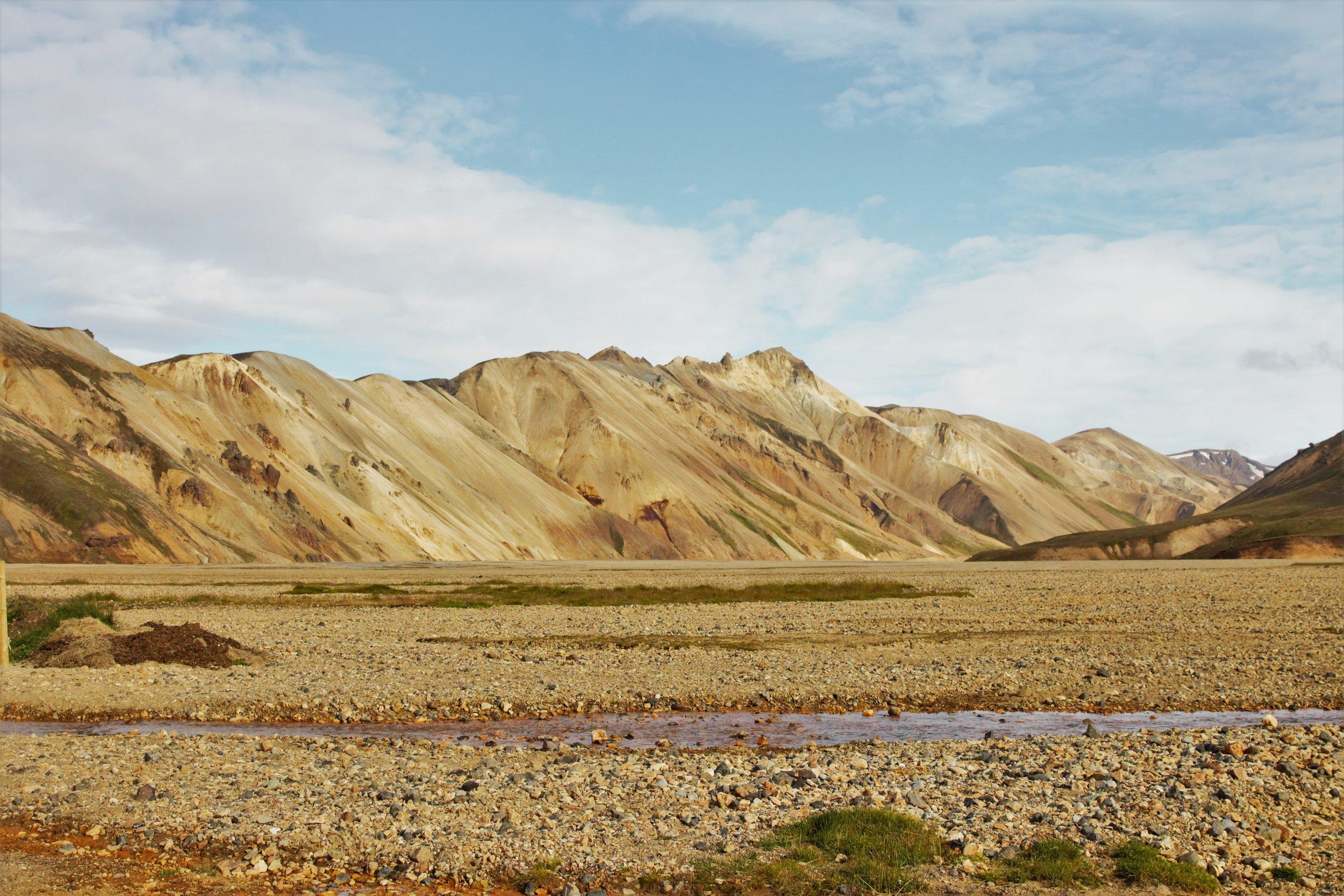 The mountains of Landmannalaugar.