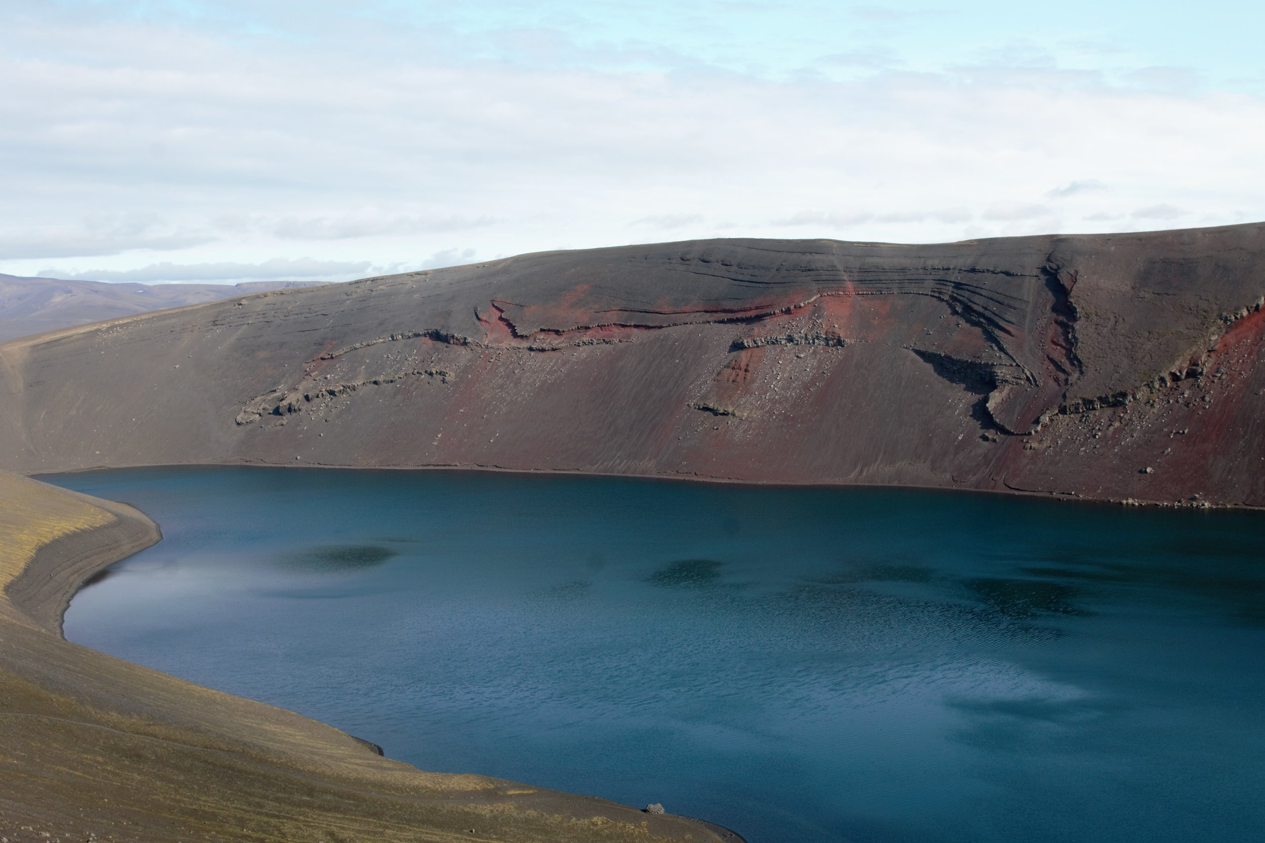 A better shot of the colors of the caldera.