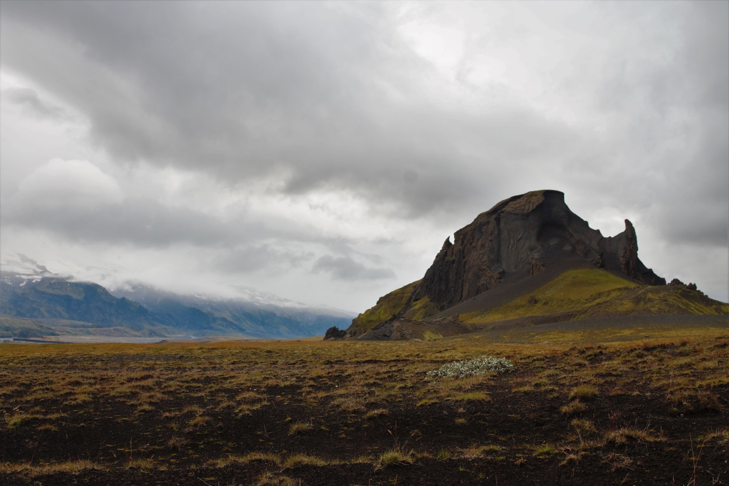 Einhyrningur, passed on our way into the Markarflótsgljúfur canyon on day 4. I thought it looked like a snarling dragon, head lowered and wings raised for takeoff.