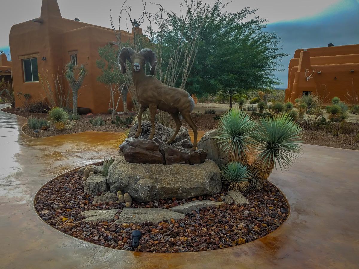 A Bronze Desert Sheep Statue at La Palmosa