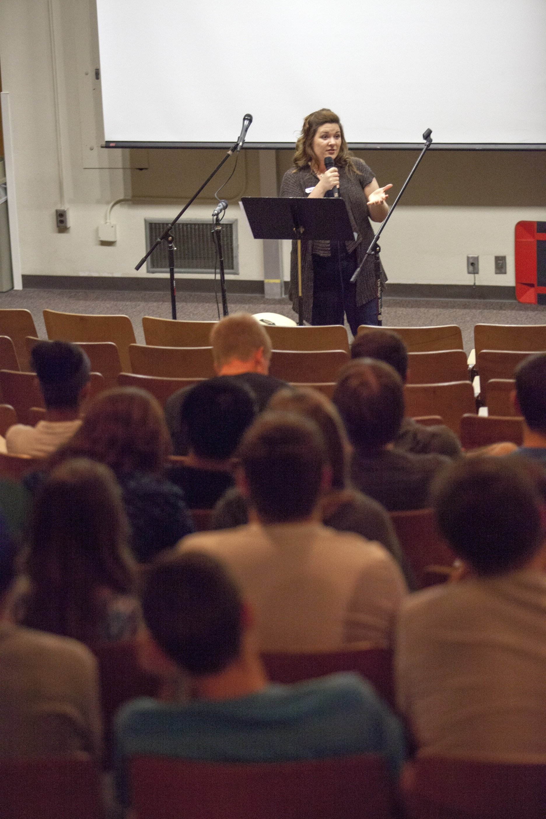 Holly Speaking at the U of A about influencing others with the gospel after college.