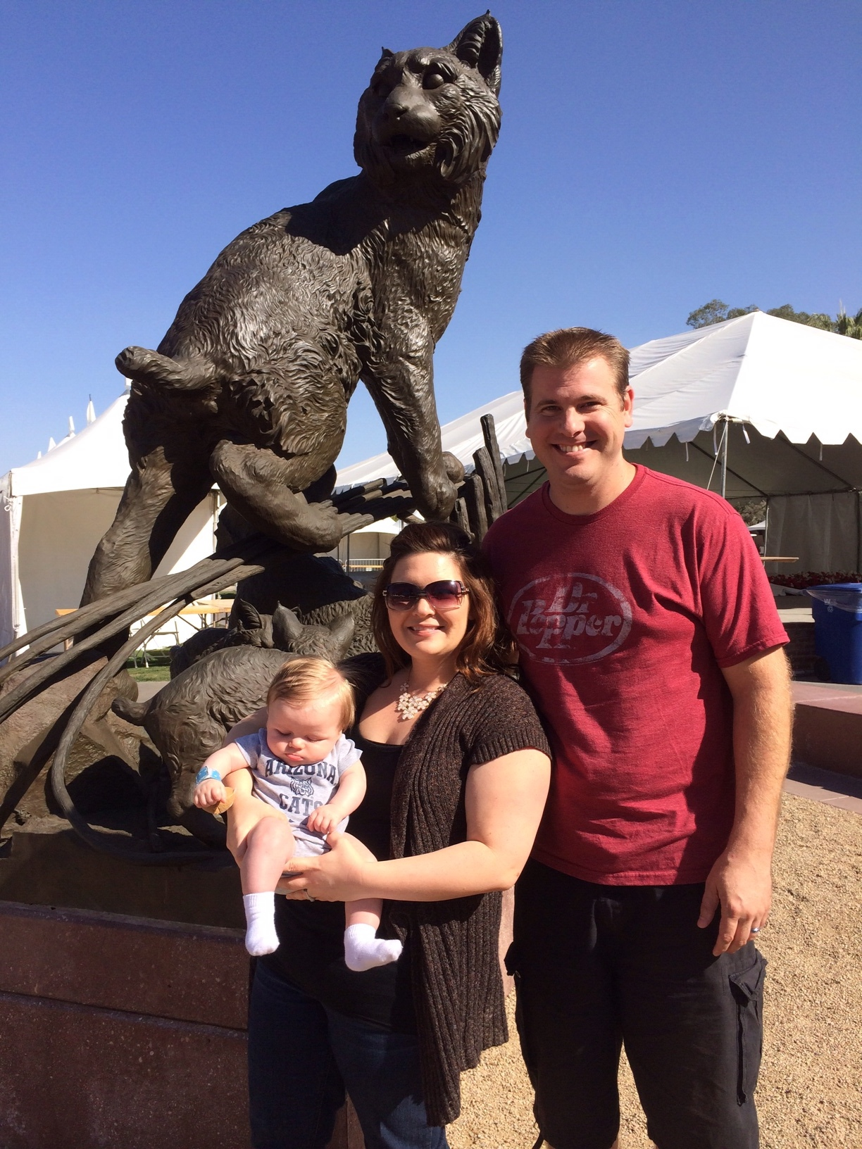 Carter's first campus visit: U of A of course, where his mama went to school!