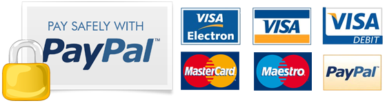 You will be temporarily redirected to PayPal to pay securely.