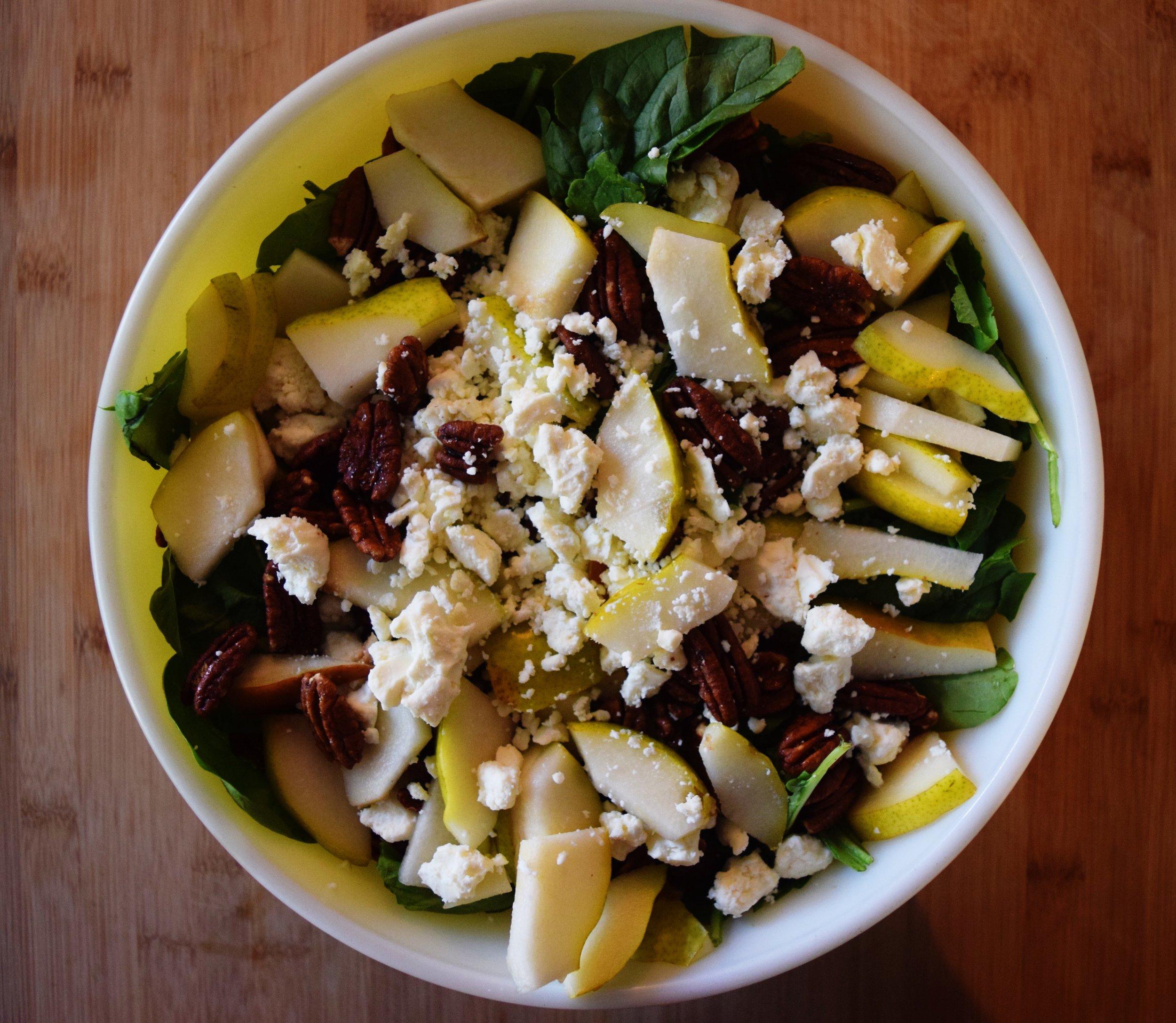 PEAR AND FETA SALAD (via JacinthaPayne.com)
