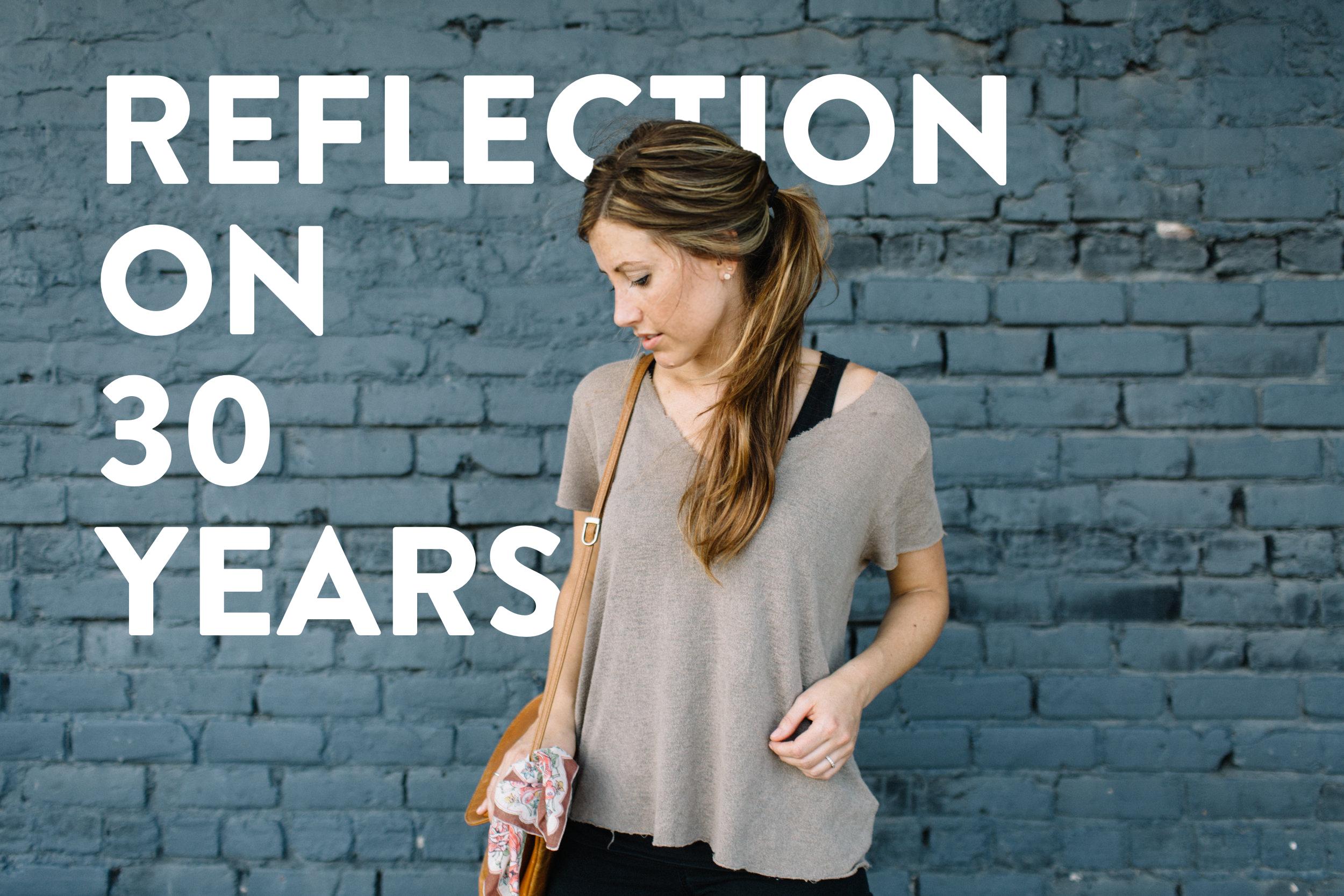 A REFLECTION ON 30 YEAR (Via JacinthaPayne.com)