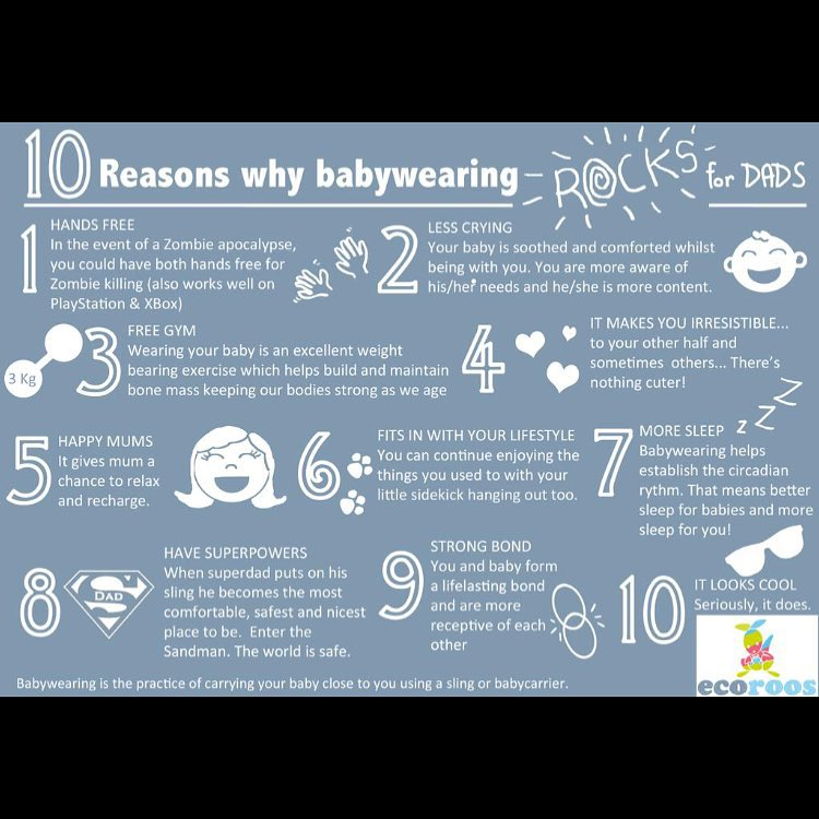 10 Reasons for dads to get in on the babywearing fun. #babywearingdads