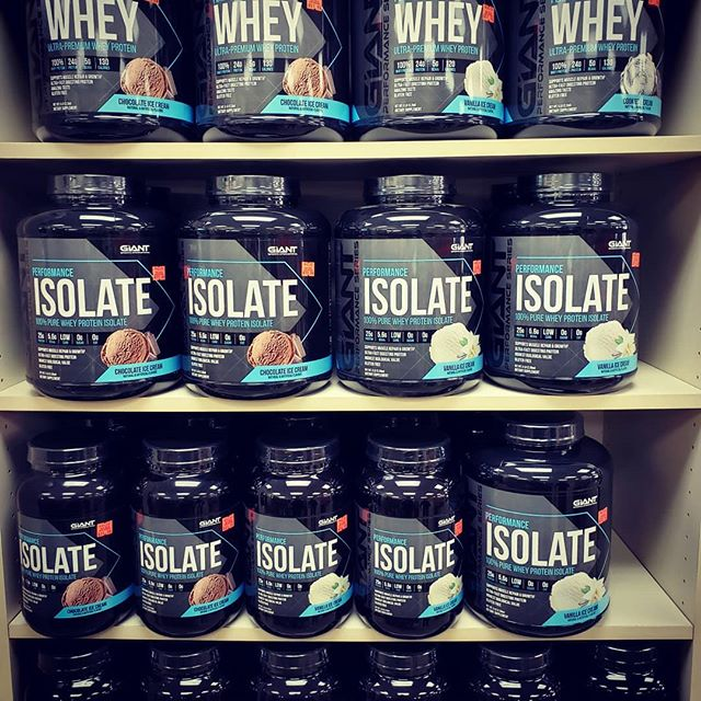 *NEW AT LIFE SPRING* Giant Performance Series products available.  Each serving of Whey Isolate contains 25 grams of protein derived solely from high grade, cold processed, ultra filtered Whey Protein Isolate 90.  The advanced preworkouts and BCAAs is scientifically engineered to support mental and physical activity along with increased strength, full body pumps, and maximum performance during those intense training sessions.  Come stop by and pick one or two up today! #preworkout #energy #protein #lifestyle