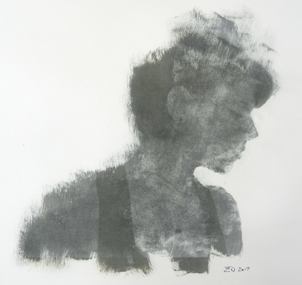 Fine Art Gum Bichromate Print of a beautiful woman