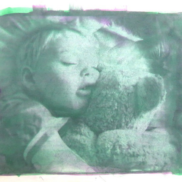 I've just found this old #gumbichromate print. A bit gorgeous. Magenta and green to try to get grey. Let me know what you think