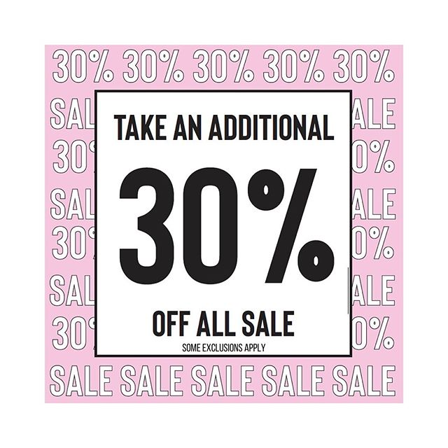 Our fav time of the year 🎀 30% off all sale * some exclusions apply *