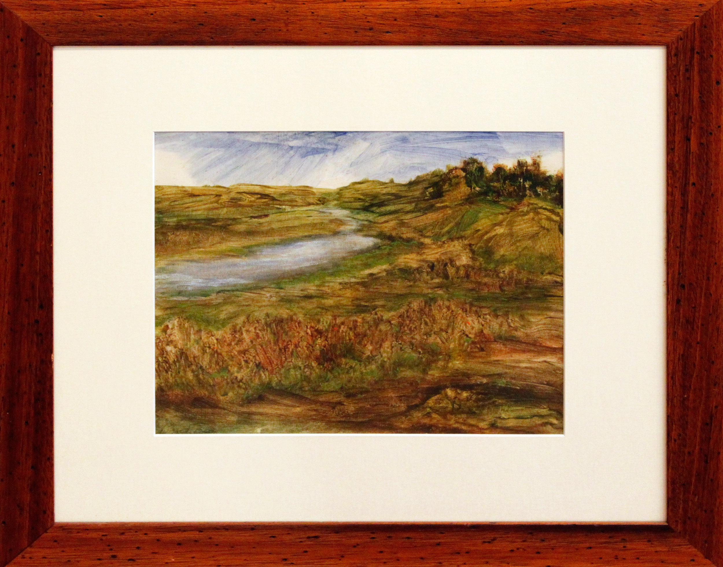 Landscape and River (Framed)