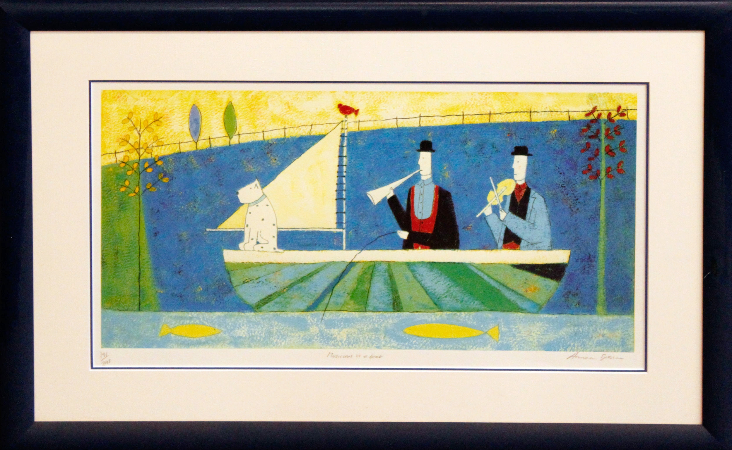 Musicians in a Boat