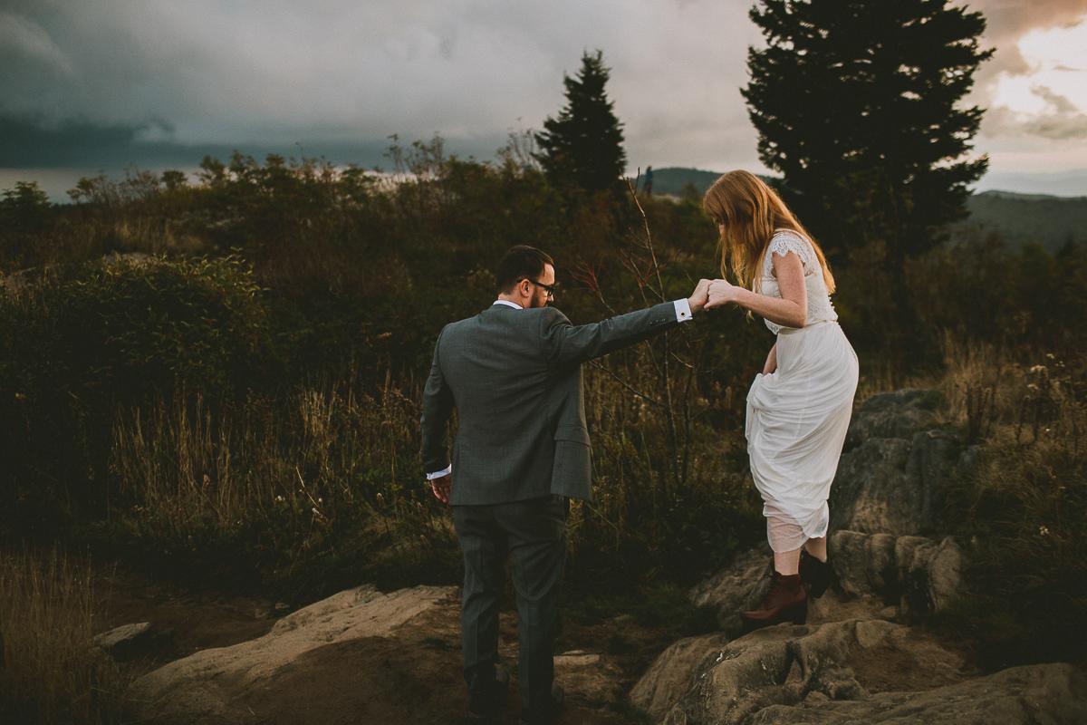kat & shaneasheville intimate wedding -