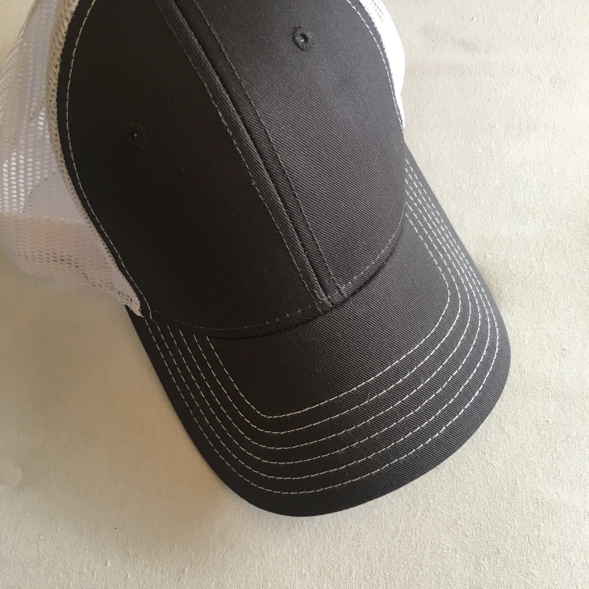 Purchase a blank baseball cap, fedora, sombrero, or any other desired style. We ordered ours online from Amazon.
