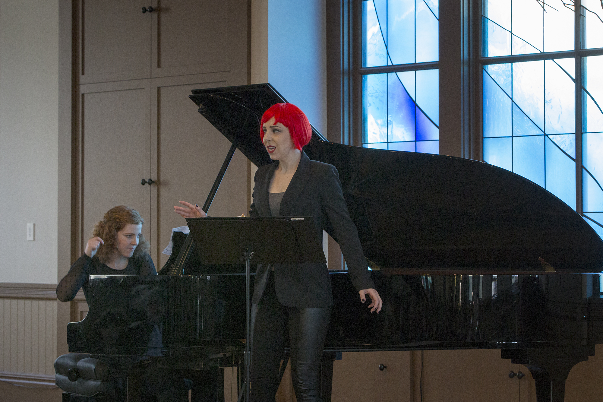 Soprano Sara LeMesh and pianist Allegra Chapman