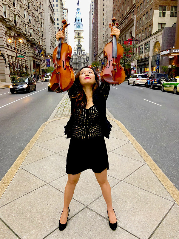Luosha Fang, violin and viola (photo credit Donald Allison)