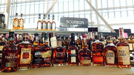 We forgot to take pictures while in the stores so here's a nice picture (by someone else) of bourbons we wish they sold