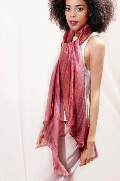 Lua - a line of naturally handmade scarves was founded by Dat Tran and Pat Gough
