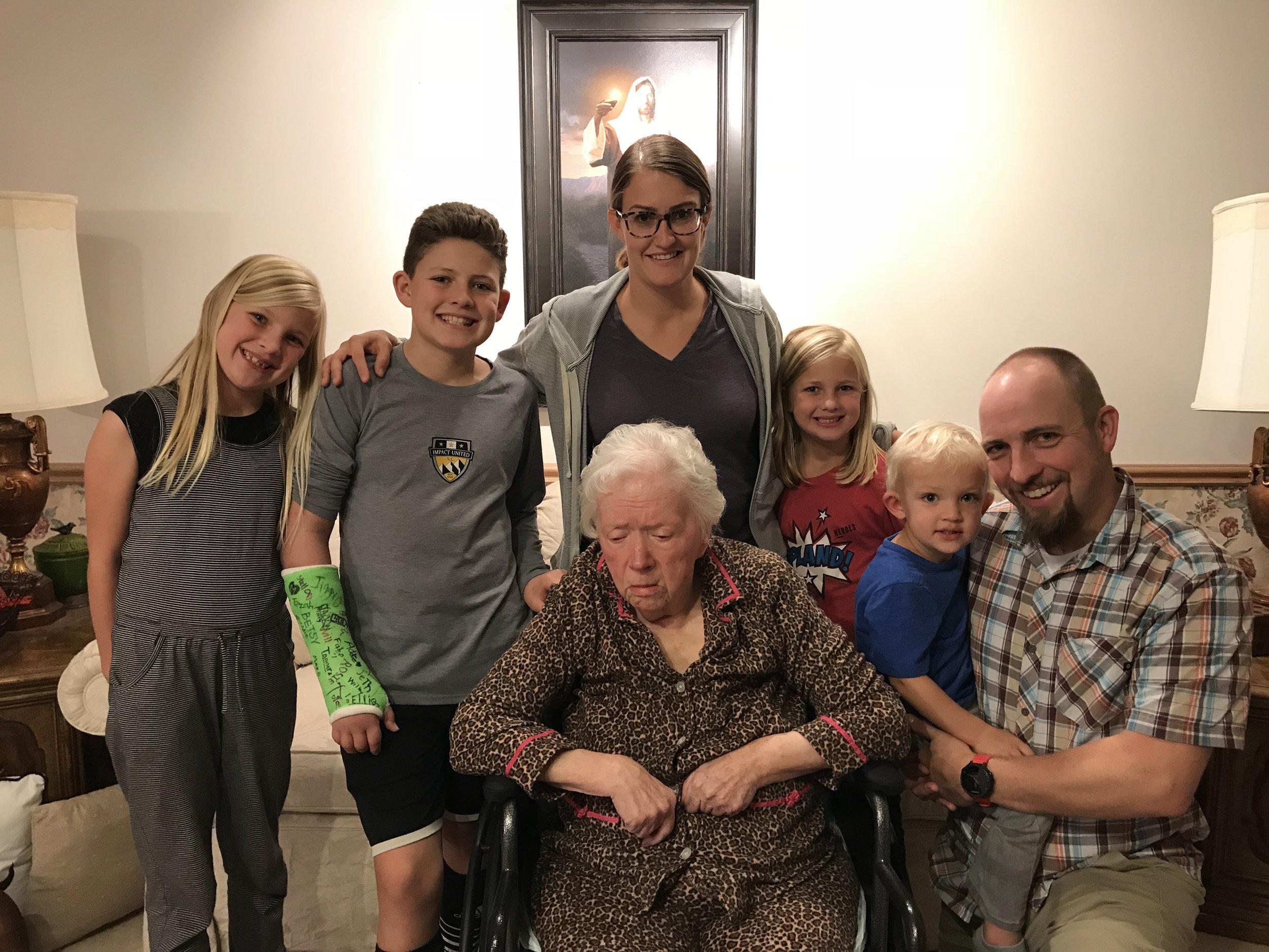 Family Celebrating 91 YEARS