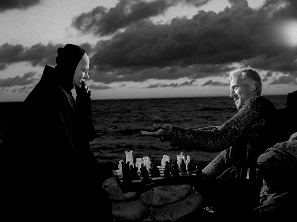 Max von Sydow playing chess with Death in Bergman's Seventh Seal (1957)