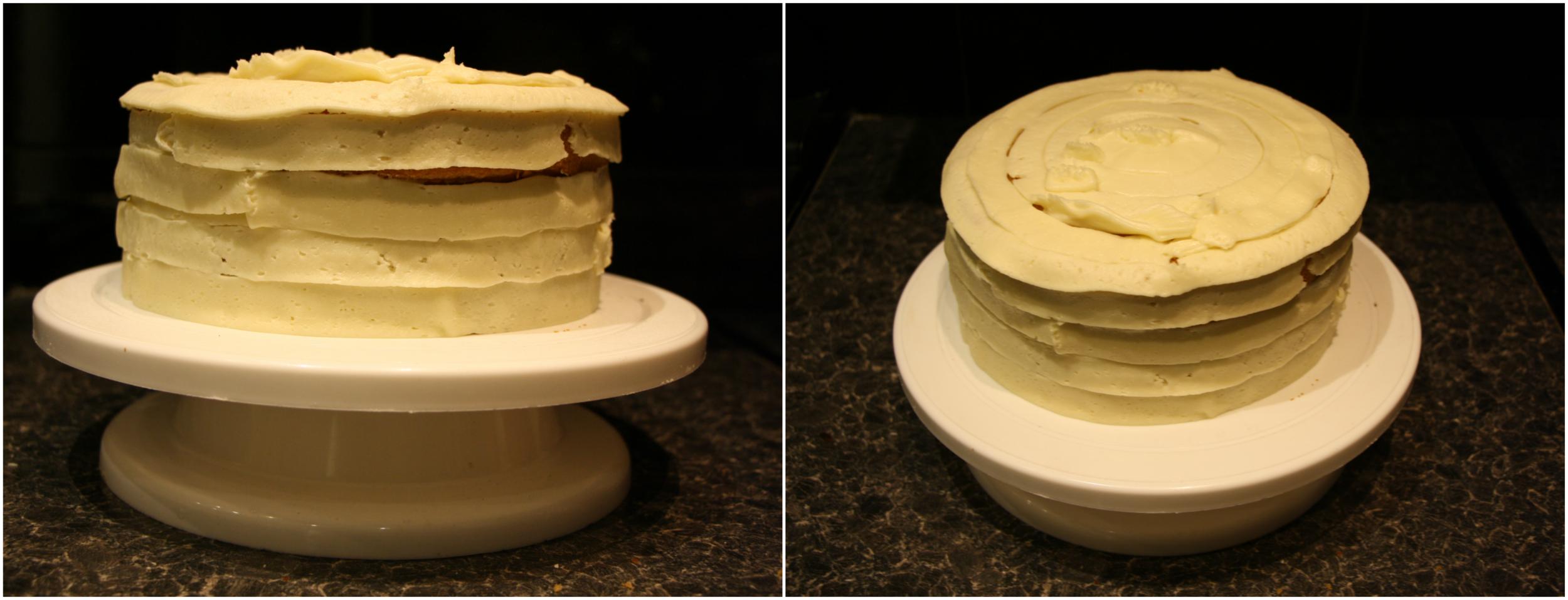 Coating cake process