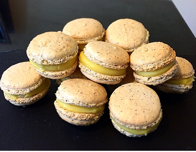 Earl Grey Macarons with White Chocolate Orange Ganache
