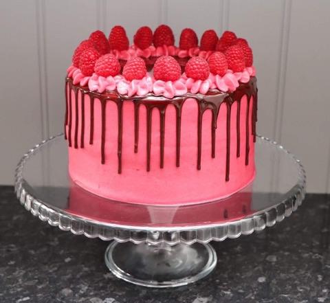 Chocolate and Raspberry Drip Cake