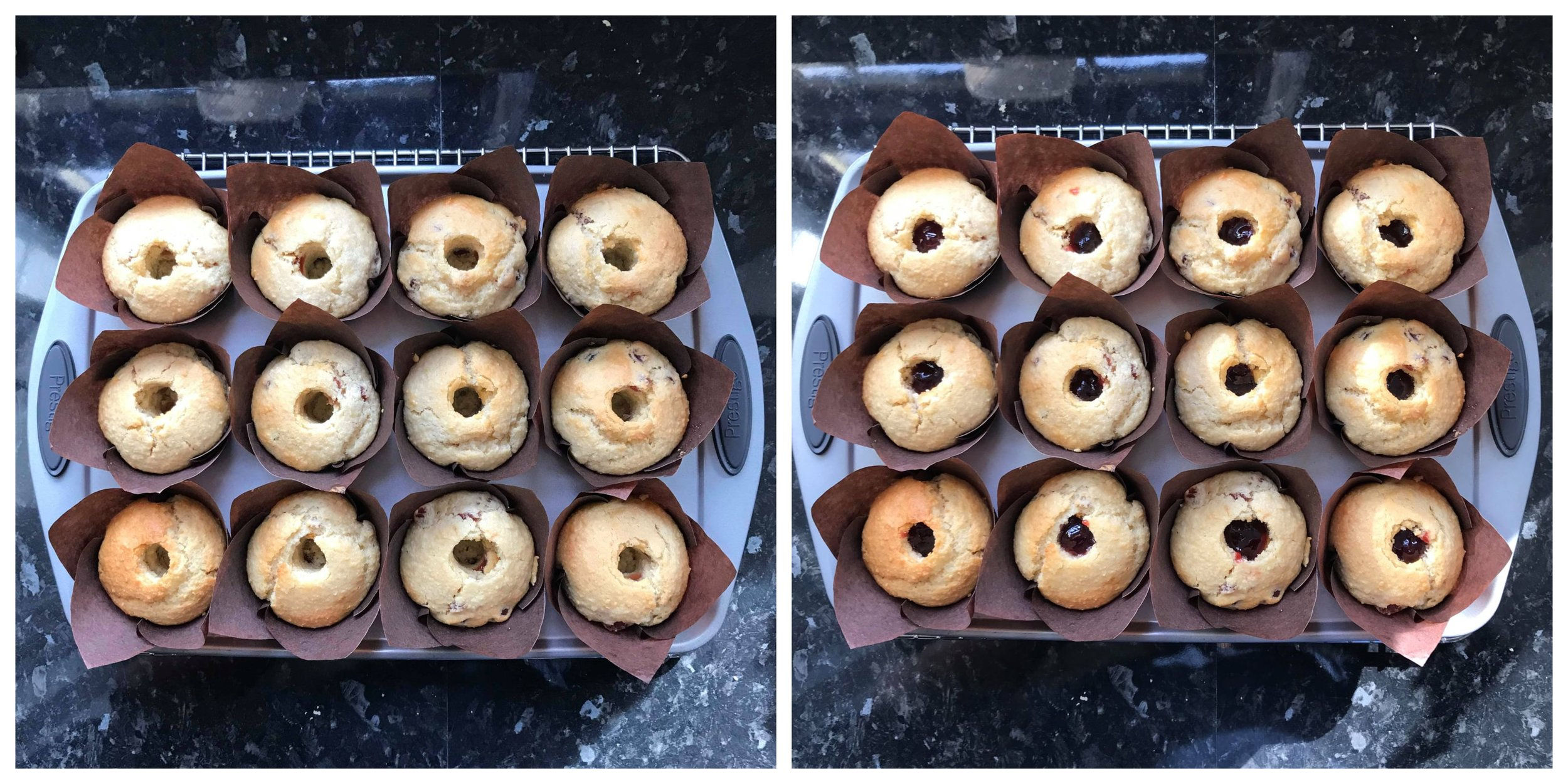 Bakewell Muffins