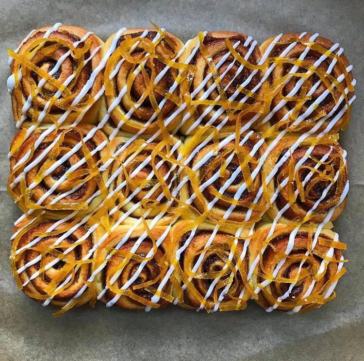 Overnight Cinnamon and Orange Rolls