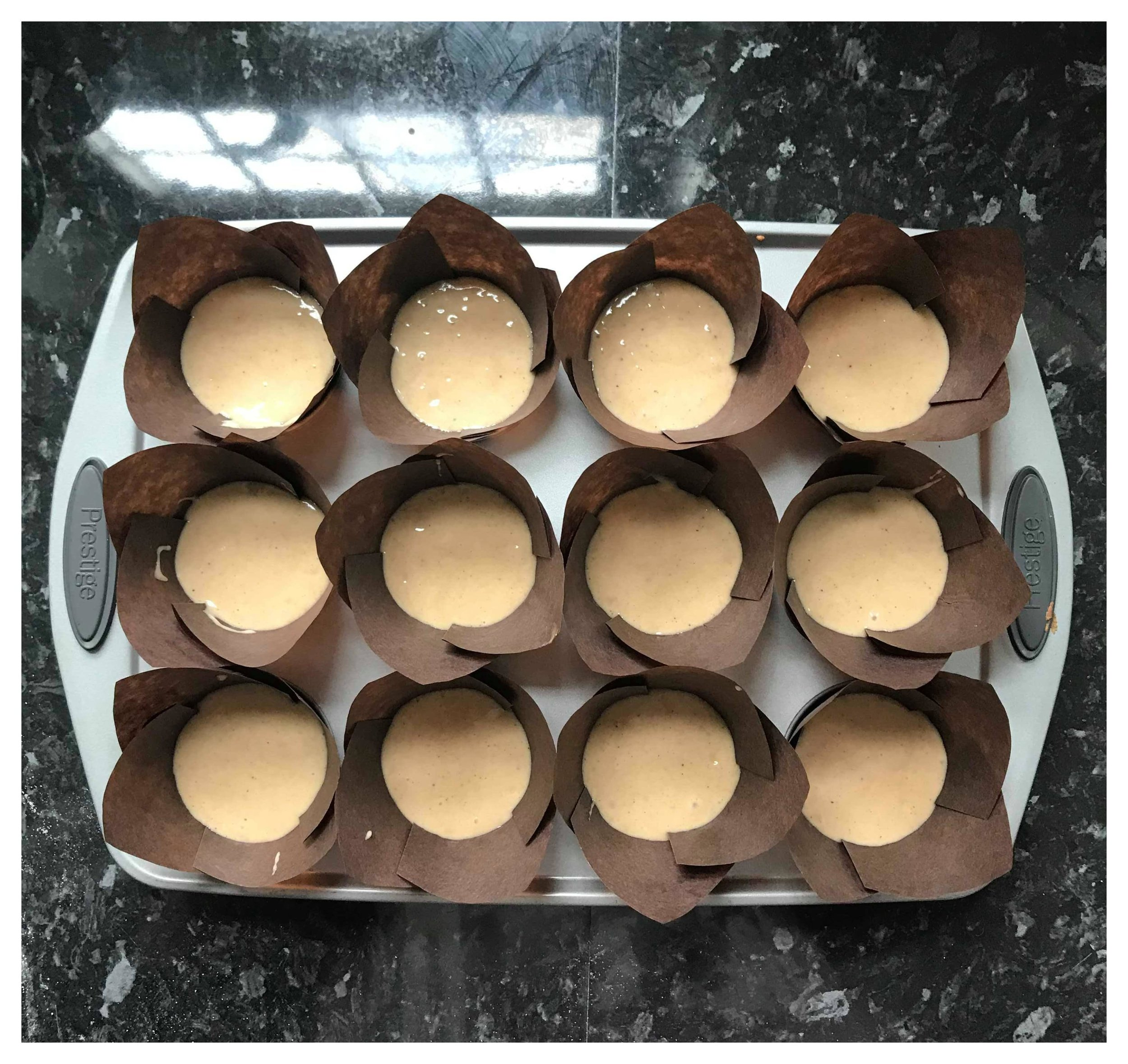 Bake the Spiced Muffins for 20-25 minutes.