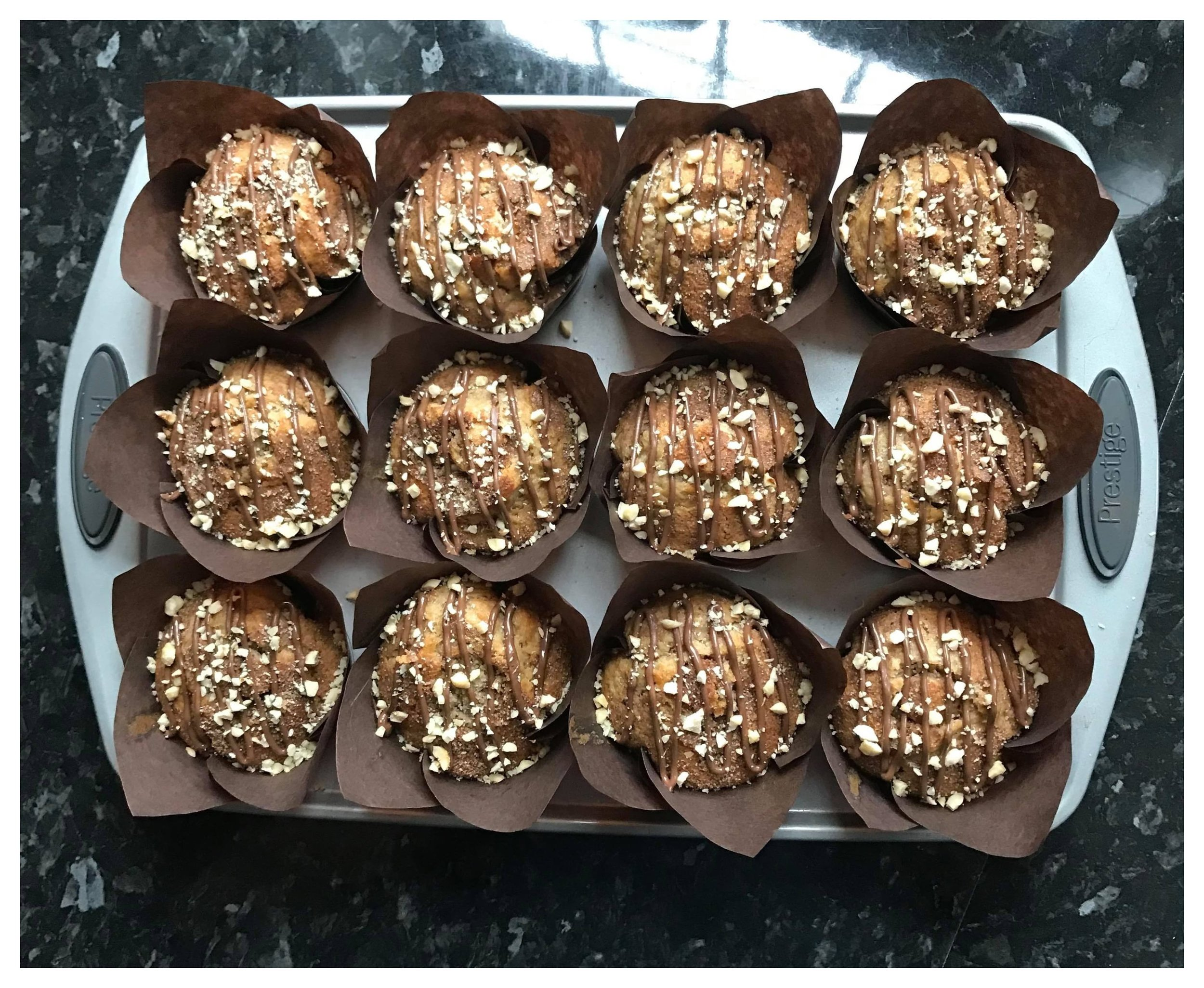 Nutella Stuffed Spiced Muffins