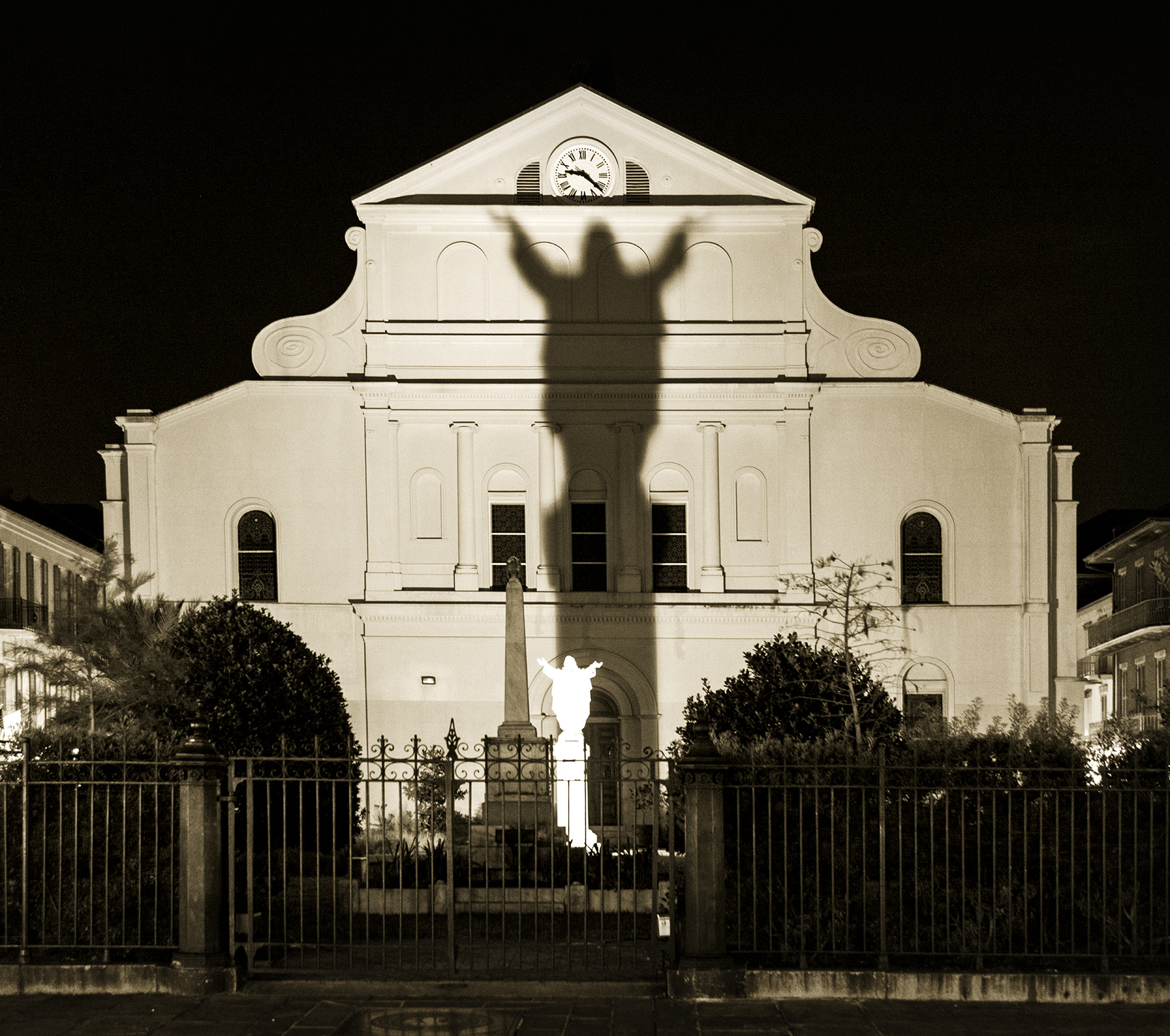 Shadow on New Orleans Church