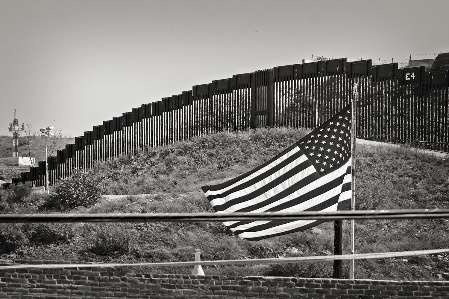 American Flag on the Border RT 93 Nogales, New Mexico