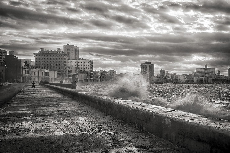 Stormy Monday, Malecon Havana, Cuba