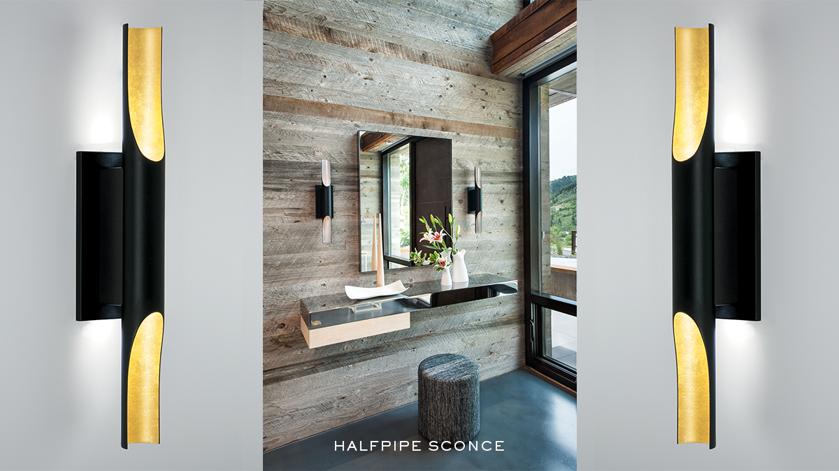 Halfpipe Sconce by Michael Wolk