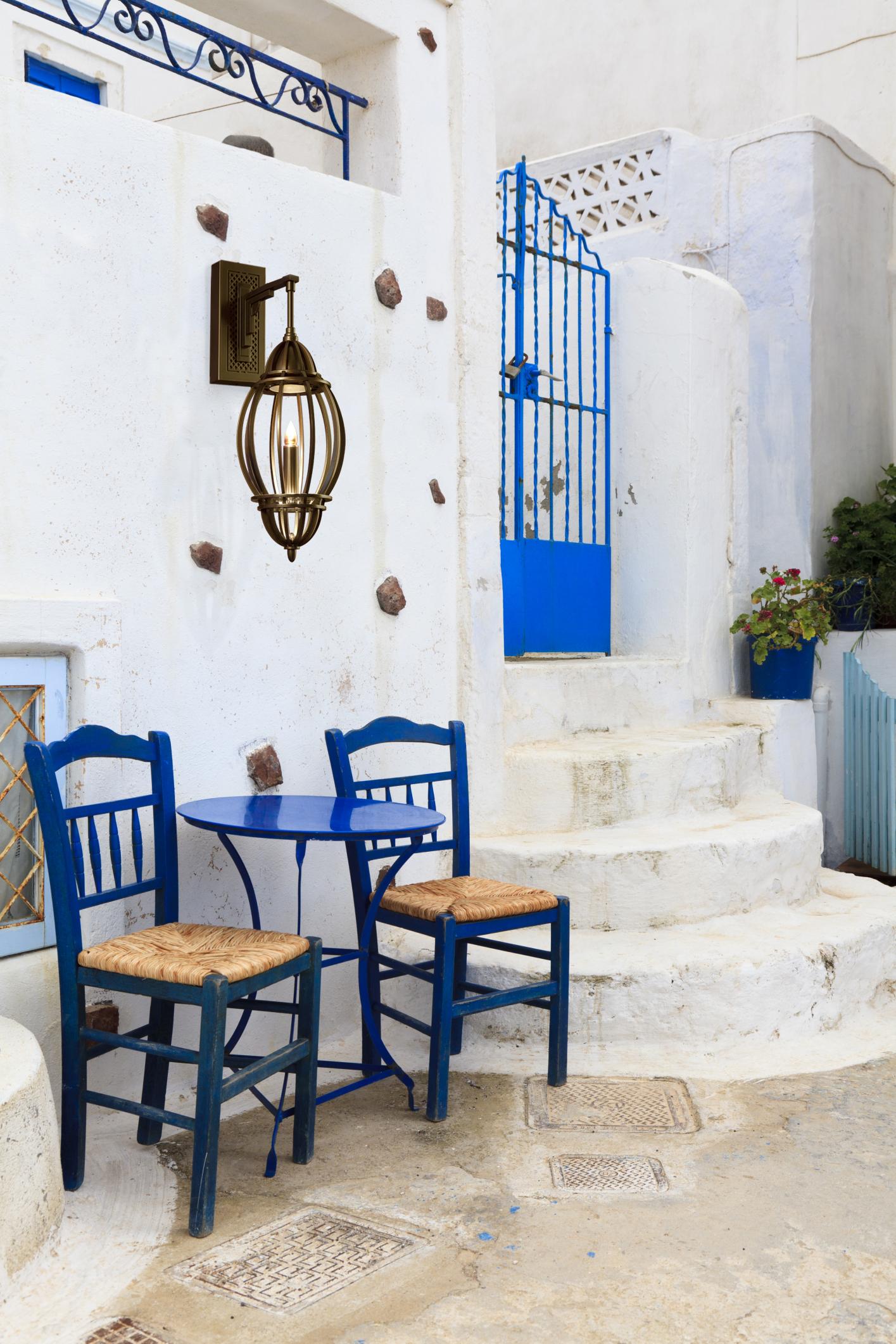 Marrakesh Sconce Greek patio