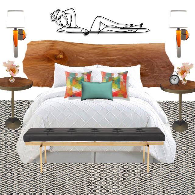 Grasse Sconce orange bedroom mock