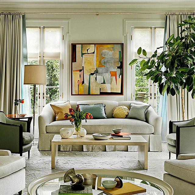 Pacific Heights Floor Lamp  Interior Design: Barbara Barry  Photo:  One Kings Lane Instagram