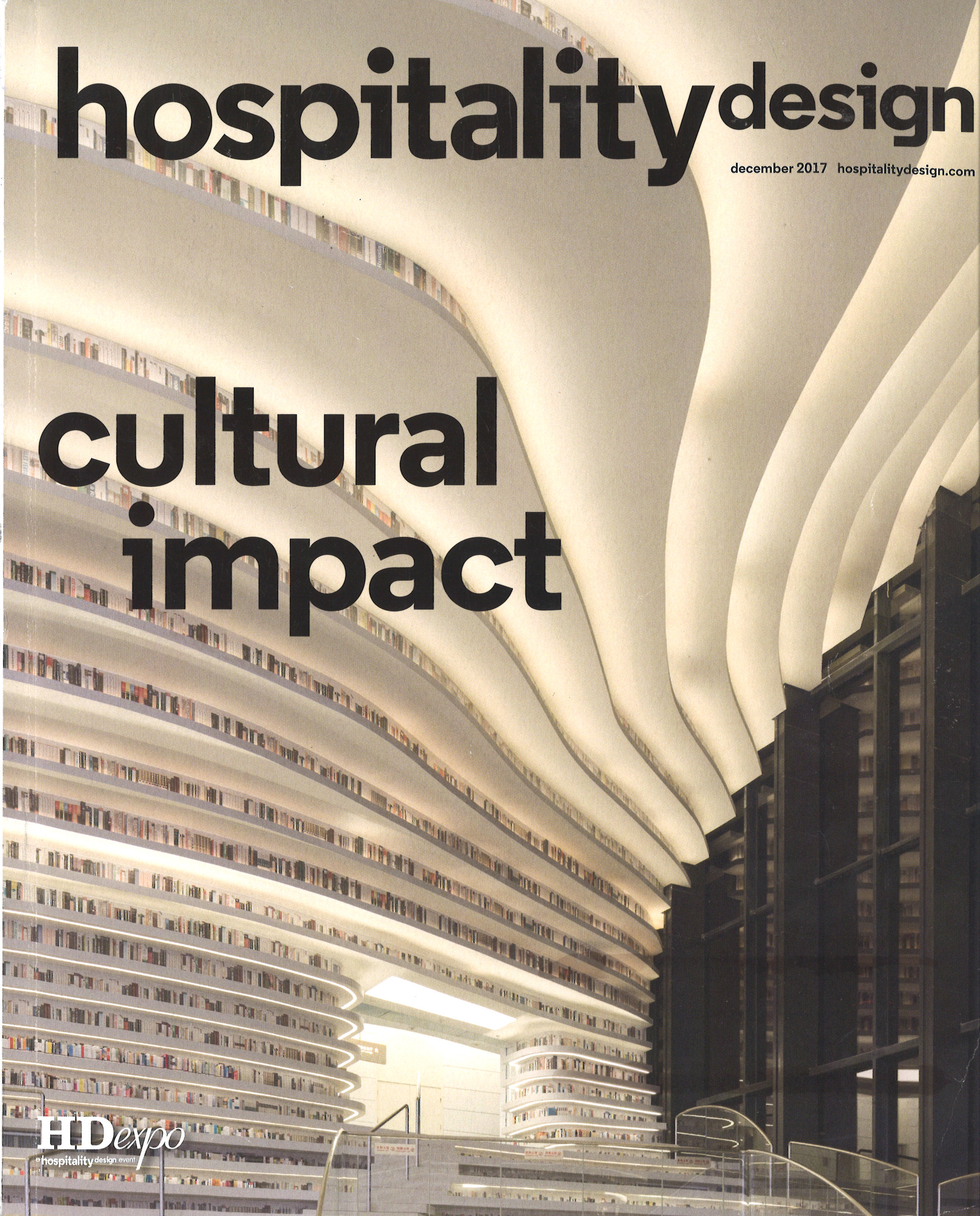 Hospitality Design Magazine December 2017 cover