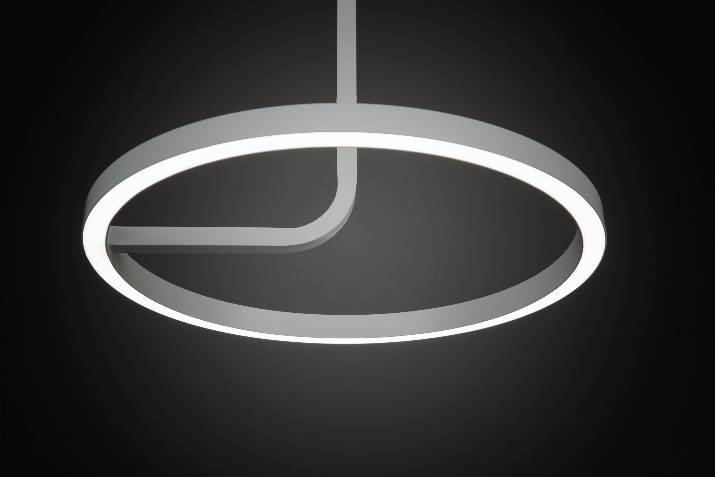 Enabling New Designs - The Hoopla Pendant's slim design is made possible thanks to new LED technology