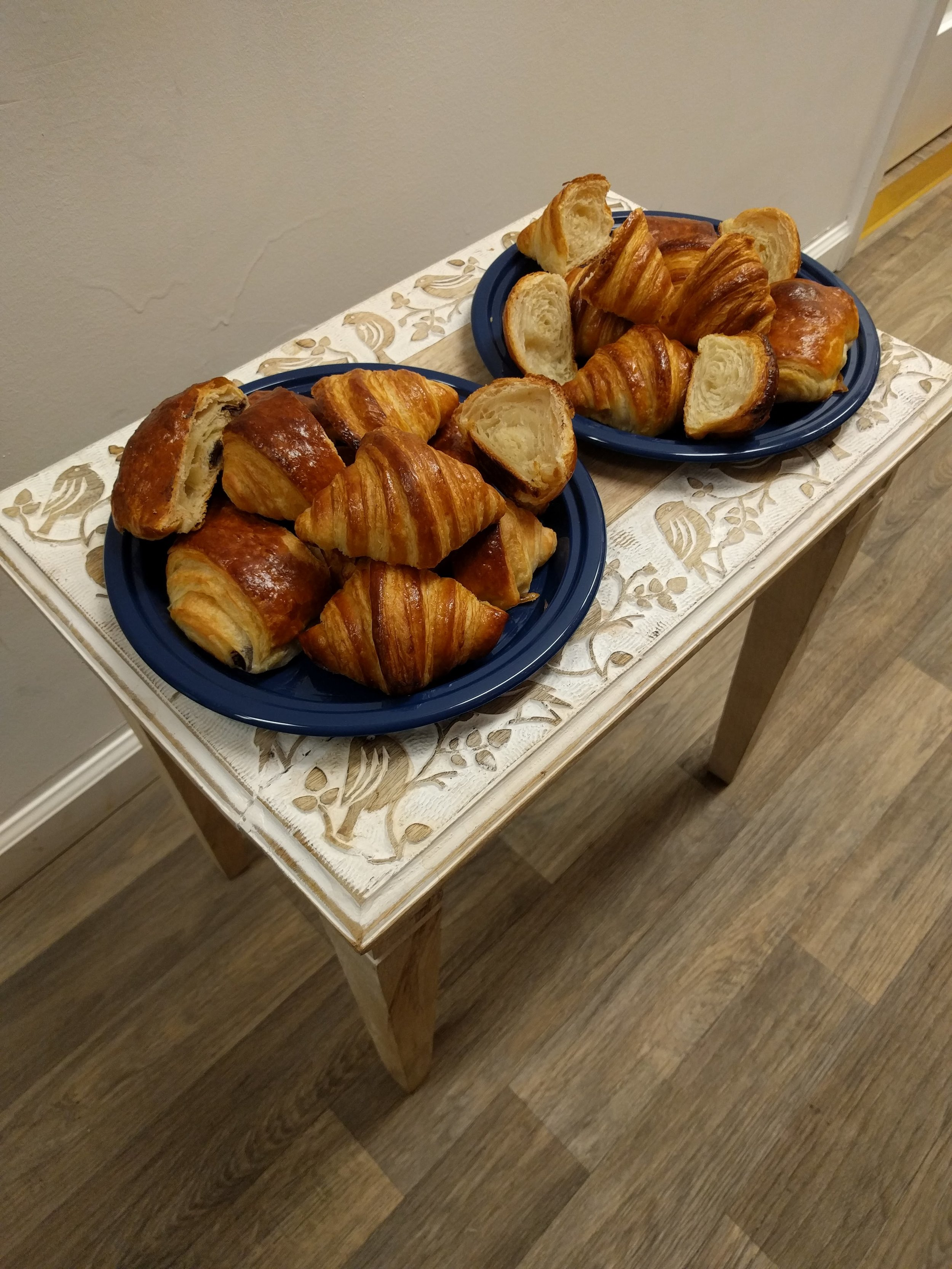 Homemade croissants I brought to a workshop.